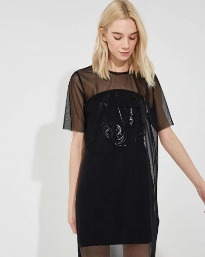 Черное джинсовое платье Versace Jeans