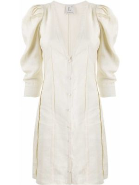 Платье на пуговицах с V-образным вырезом Lautre Chose