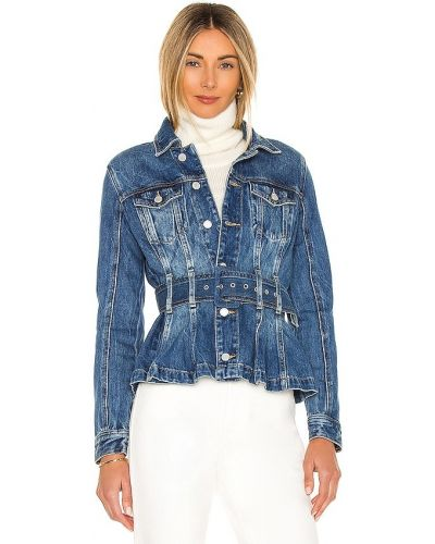 Ватная синяя джинсовая куртка с поясом [blanknyc]