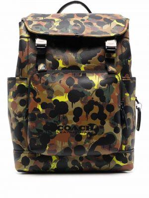 Plecak skórzany - żółty Coach