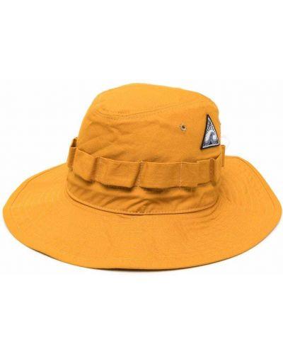 Pomarańczowy kapelusz bawełniany Jil Sander