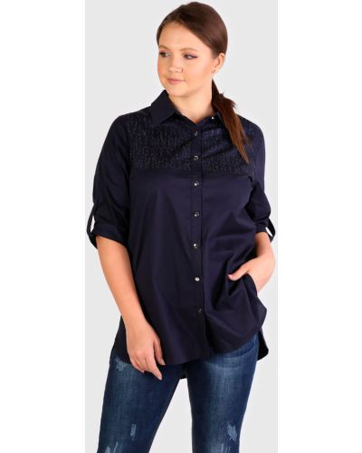 Прямая блузка со стразами на пуговицах Rodeo-jeans