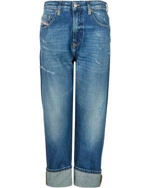 Прямые джинсы укороченные синие Diesel