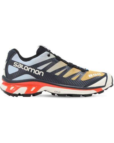 Кроссовки на шнуровке - синие Salomon