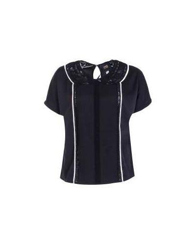 Черная блузка винтажная Class Cavalli