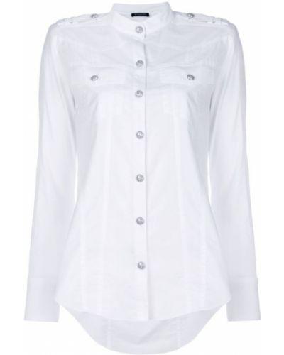 Рубашка с длинным рукавом хлопковая с карманами Balmain