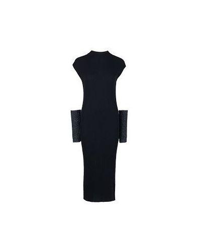 Деловое платье повседневное черное Peserico