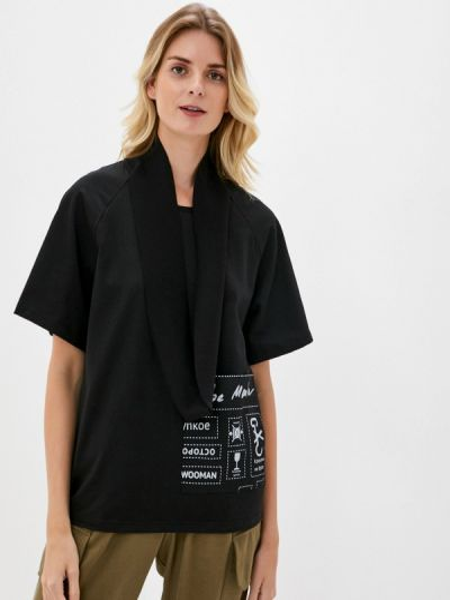 Черная футболка с короткими рукавами Be Main