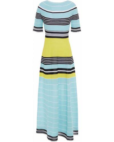 Хлопковое платье миди - синее Lanvin