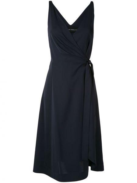 Приталенное платье с запахом с V-образным вырезом на молнии Gloria Coelho