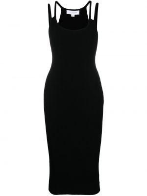 Черное платье миди без рукавов из вискозы Michael Michael Kors