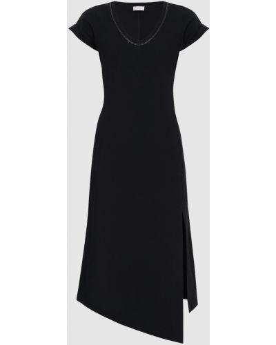 Черное платье миди Brunello Cucinelli
