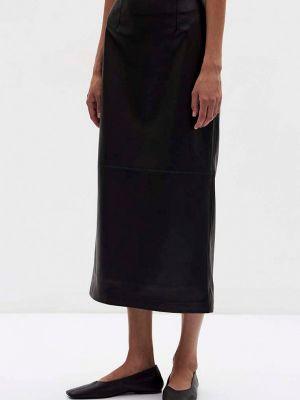 Черная кожаная юбка Lime