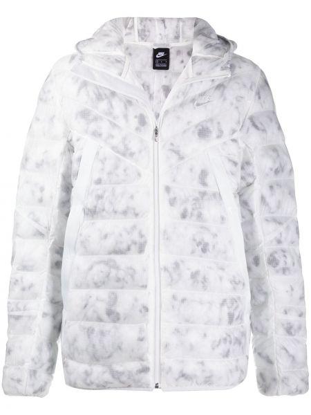 Стеганая куртка - белая Nike