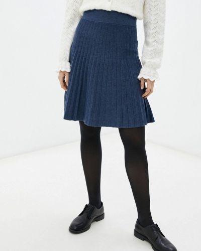 Плиссированная юбка - синяя Rodier