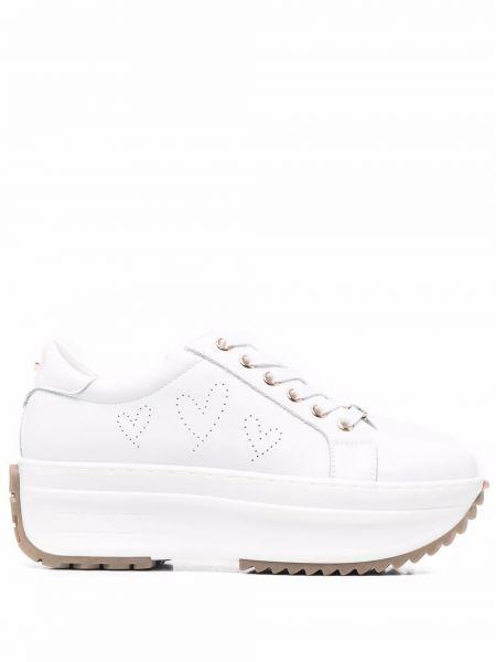 Białe sneakersy skorzane koronkowe Cult