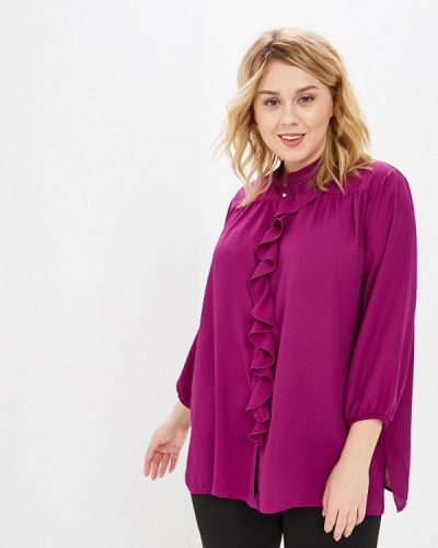 Фиолетовая блузка Over