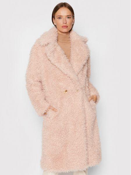 Różowy płaszcz Fracomina