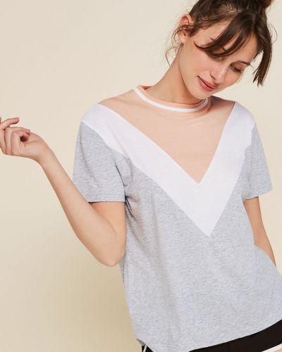 Koszula krótkie rękawy długo szary Undiz