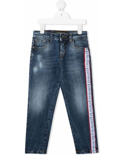Облегающие синие джинсы-скинни на молнии Trussardi Junior