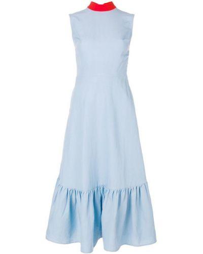 Платье миди без рукавов из полиэстера Rejina Pyo