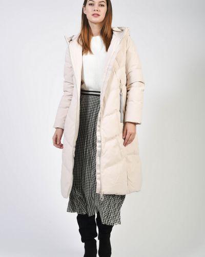Бежевое пальто Bosideng