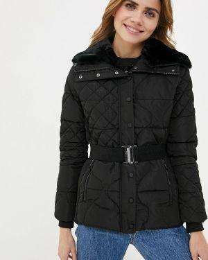 Утепленная куртка демисезонная черная Desigual