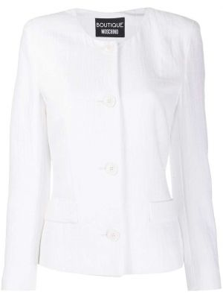 Кожаная куртка из кожи крокодила на пуговицах Boutique Moschino
