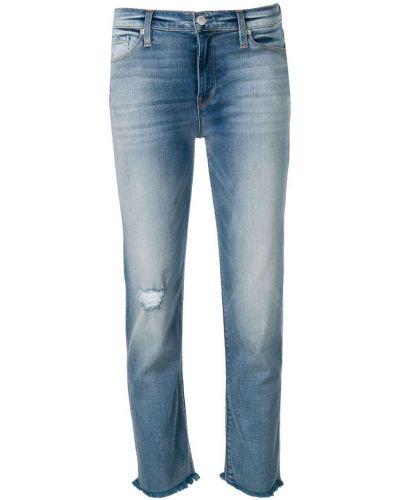 Укороченные джинсы - синие Hudson