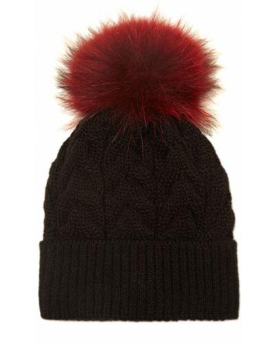Зимняя шапка черная с отворотом Dreamfur