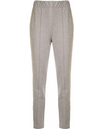 Хлопковые серые брюки с карманами T By Alexander Wang