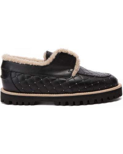 Черные кожаные туфли Le Silla