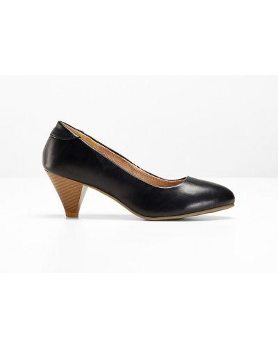 Туфли-лодочки на каблуке черный Bonprix