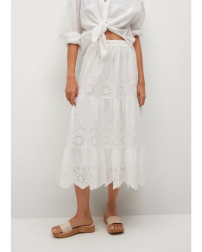 Biała spódnica midi Mango