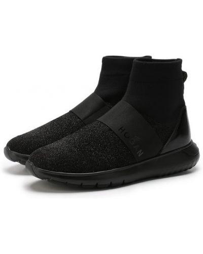 Высокие кроссовки текстильные Hogan