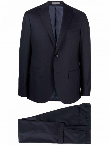 Синий костюм с лацканами Corneliani