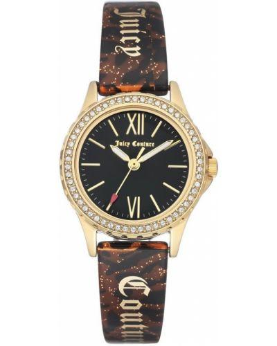 Czarny złoty zegarek mechaniczny kwarc Juicy Couture
