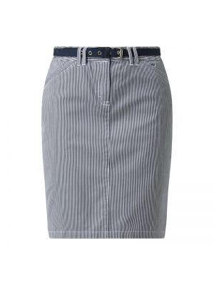 Niebieska spódnica w paski z paskiem Montego