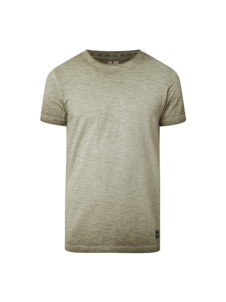 T-shirt bawełniana - zielona Q/s Designed By