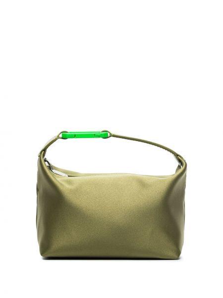 Zielona satynowa torebka Eera