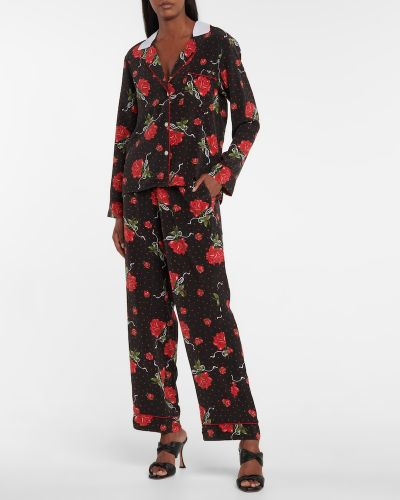 Шелковая блузка - черная Rodarte