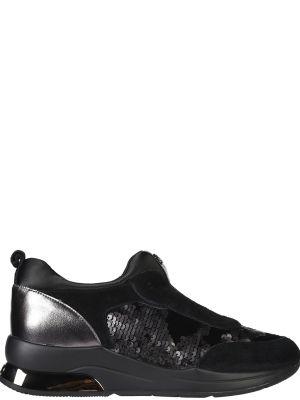 Кроссовки замшевые черные Liu Jo
