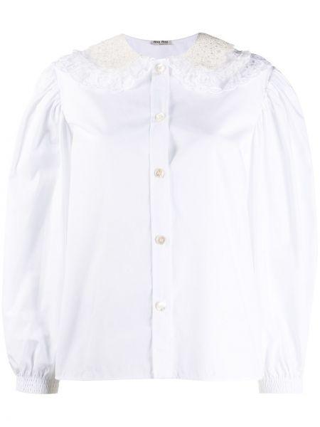 Koszula z haftem Miu Miu