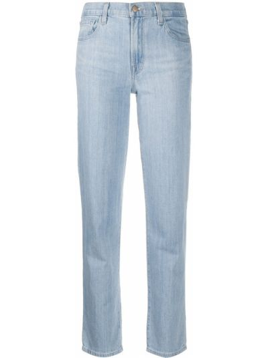Хлопковые синие джинсы на молнии J Brand