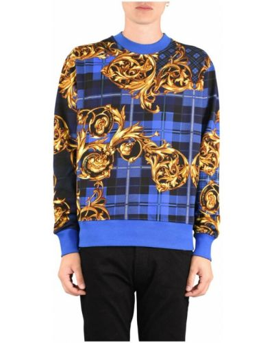 Niebieska bluza dresowa Versace Jeans Couture
