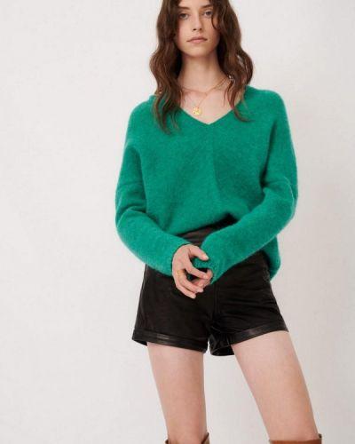 Зеленый пуловер Maje