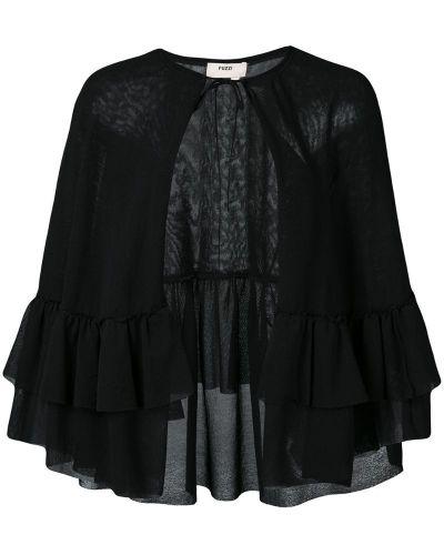 Длинная куртка - черная Fuzzi