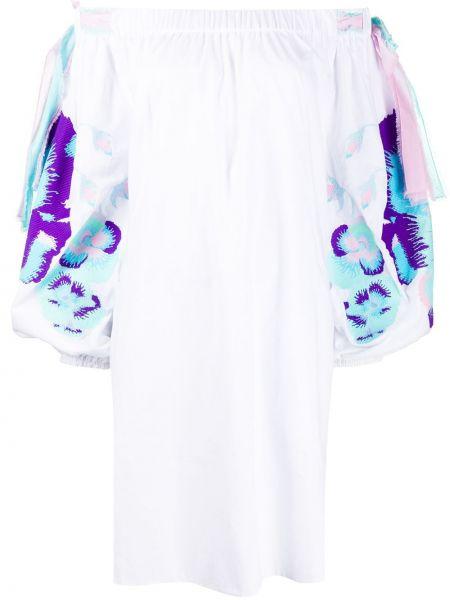 Платье с открытыми плечами - белое Yuliya Magdych