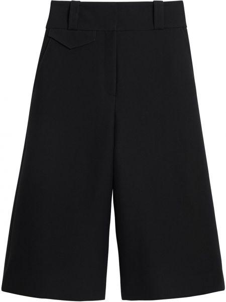 Spodnie culotte czarny bezpłatne cięcie Burberry