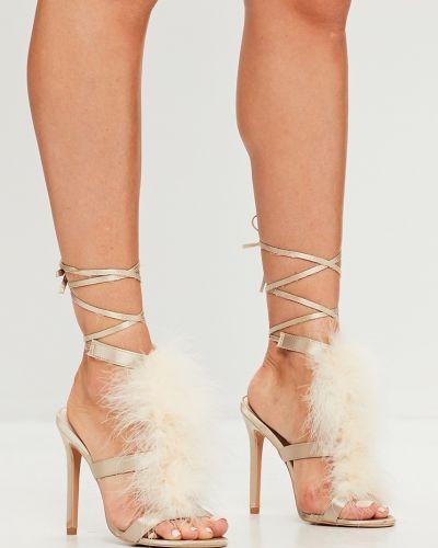 Туфли на каблуке текстильные на шпильке Missguided